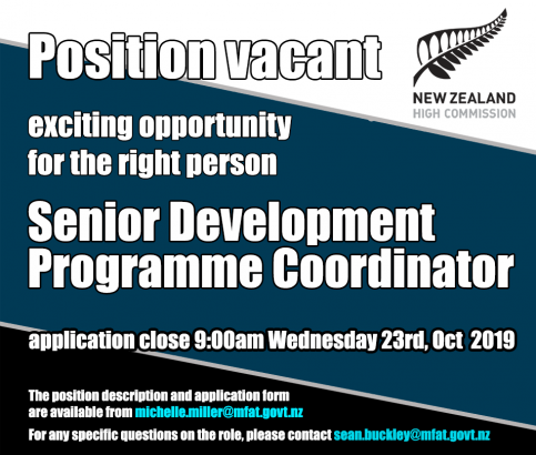 JOB VACANCY-NEW ZEALAND HIGH COMMISSION