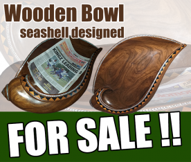 SEASHELL DESIGN WOODEN BOWL